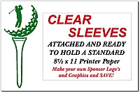 "18  12"" x 18"" Golf Sponsor Signs with Clear Plastic Sleeves and Stakes and Free Shipping!"