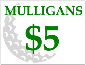 "18"" x 24"" Custom Mulligan Sign includes stake."