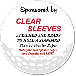 "18 Hole Kit (18 Signs) 18"" Round Golf Sponsor Signs with Sleeves & Stakes"